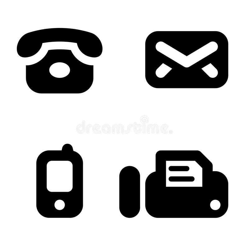 Signes de l'information de contact illustration de vecteur