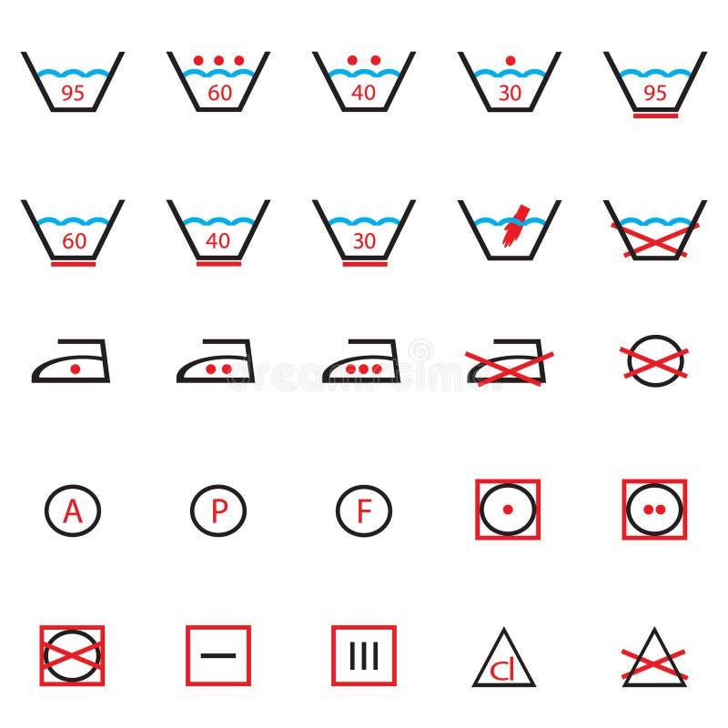 Signes de lavage. illustration de vecteur