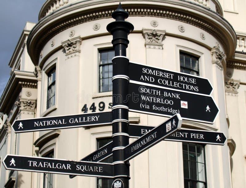 signes de Londres de borne limite photo stock