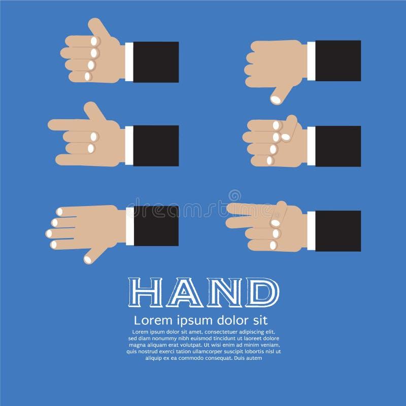 Signes de main. illustration libre de droits
