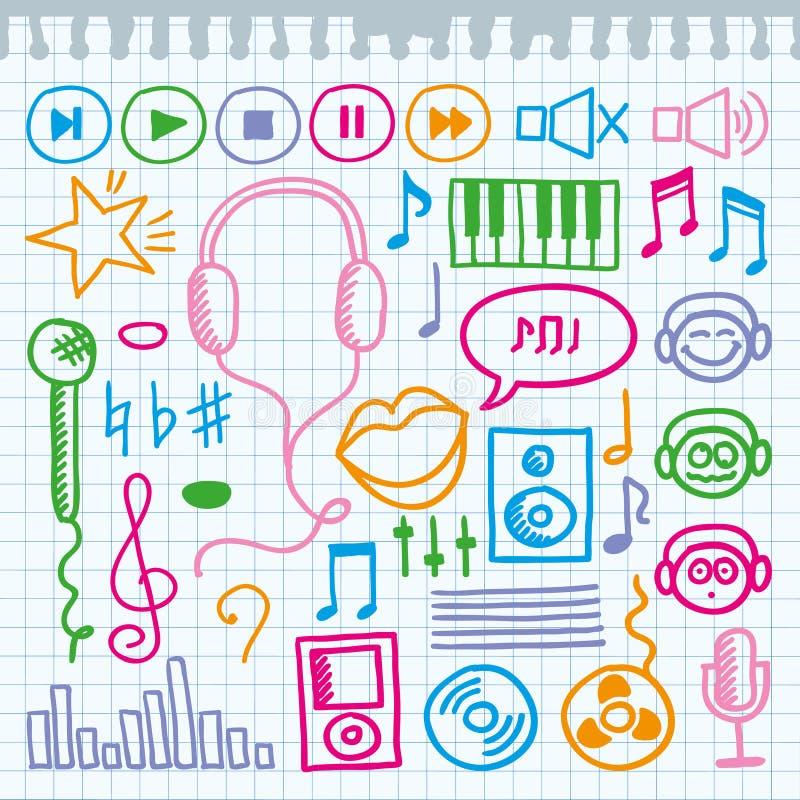 Signes de musique illustration libre de droits
