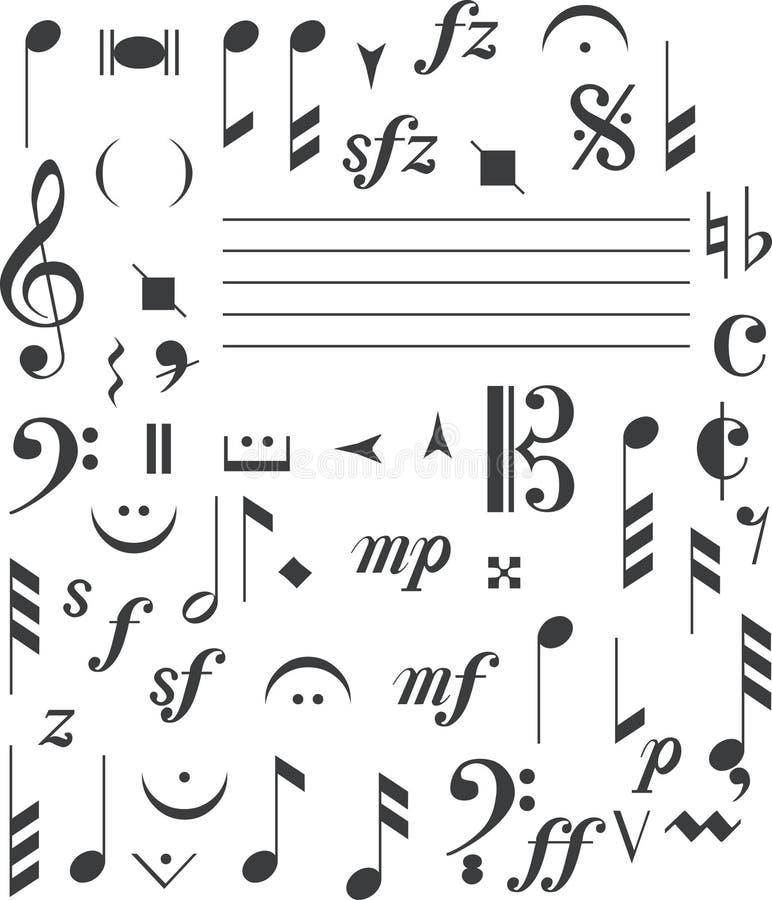 Signes de musique illustration de vecteur