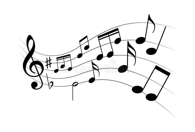 Signes de musique de feuille comme symbole de m?lodie illustration libre de droits