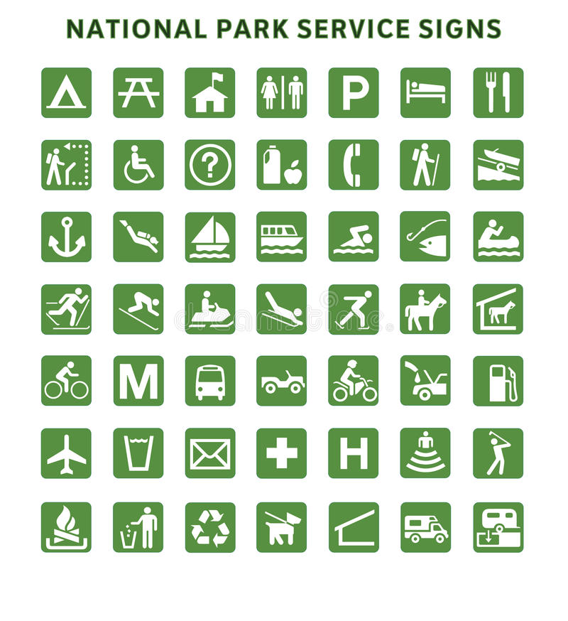 Signes de National Park Service illustration de vecteur