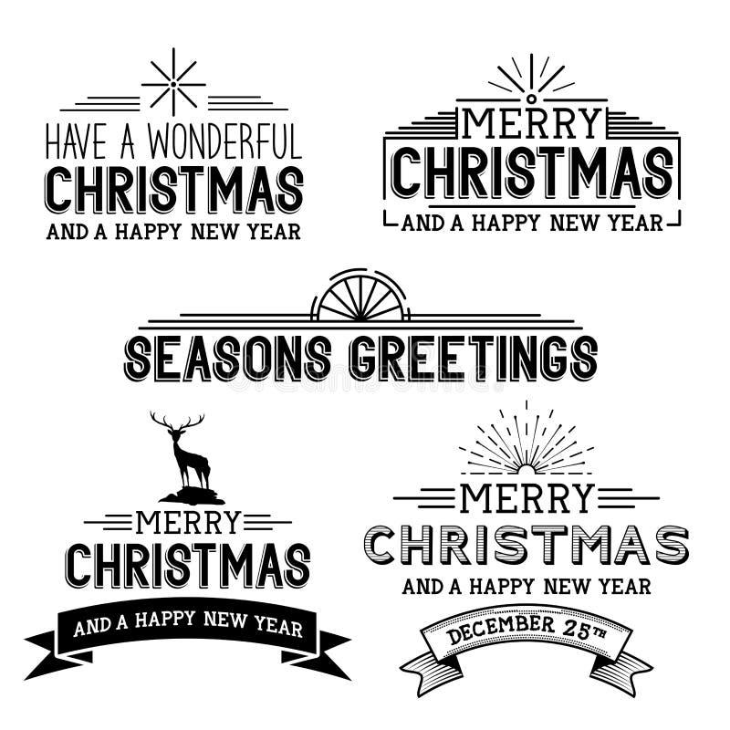 Signes de Noël de vecteur illustration de vecteur