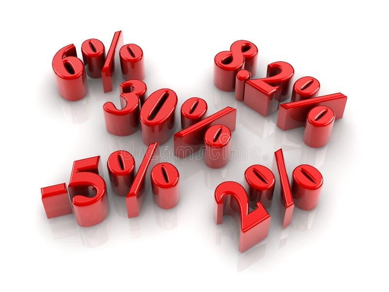 Signes de pourcentage illustration de vecteur