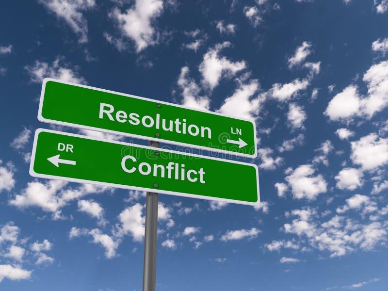 Signes de résolution de conflits photo libre de droits