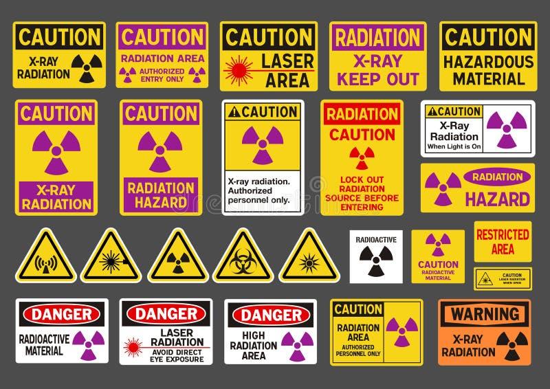 Signes de rayonnement illustration de vecteur