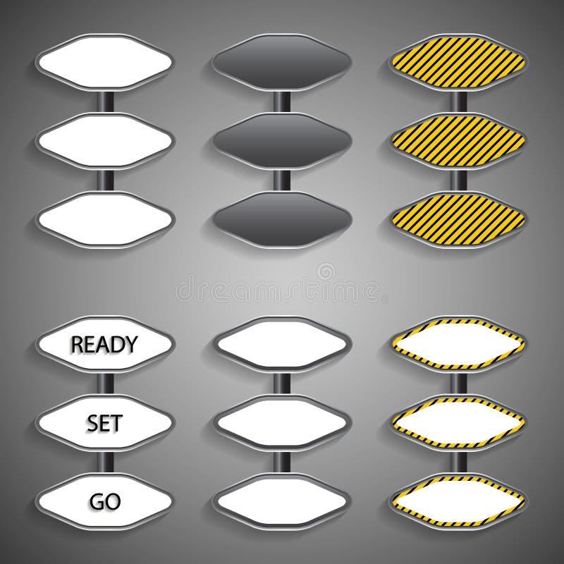 Download Signes de route illustration de vecteur. Illustration du trame - 45357702