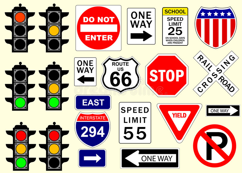 Signes de route illustration libre de droits
