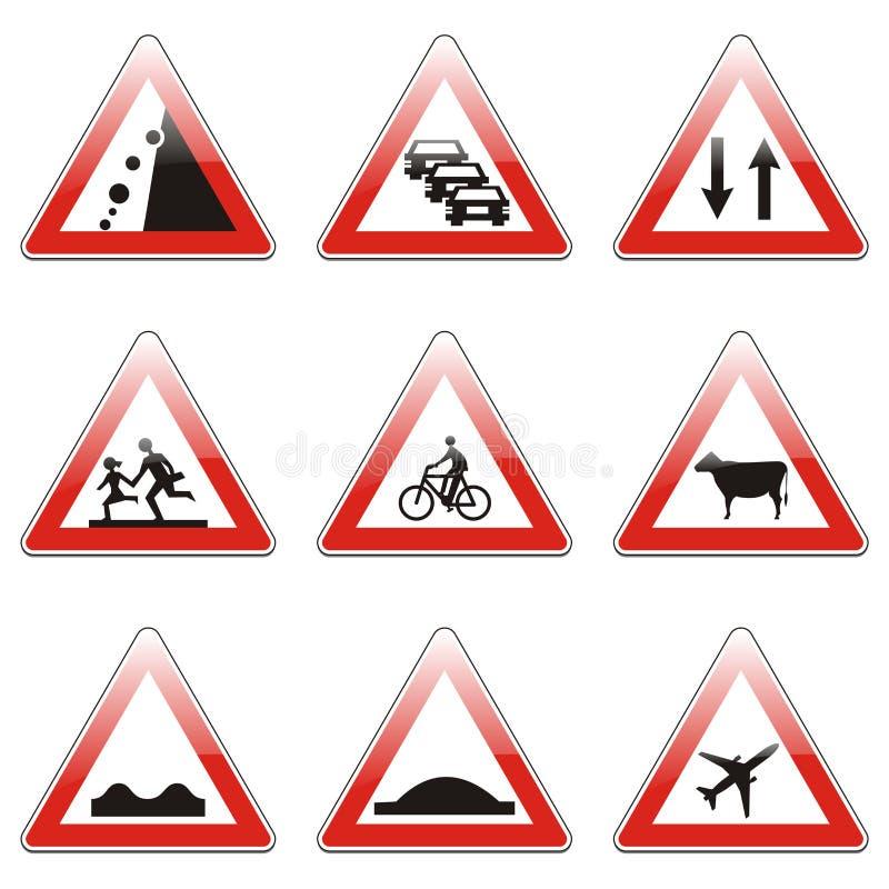 signes de route illustration de vecteur illustration du