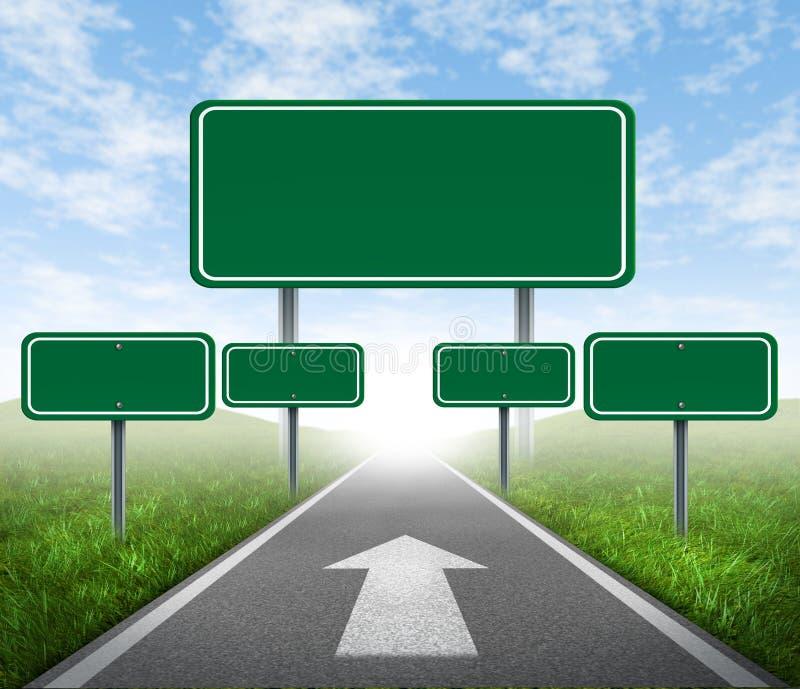 Signes de route de stratégie illustration de vecteur