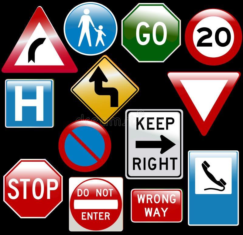Signes de route de vecteur