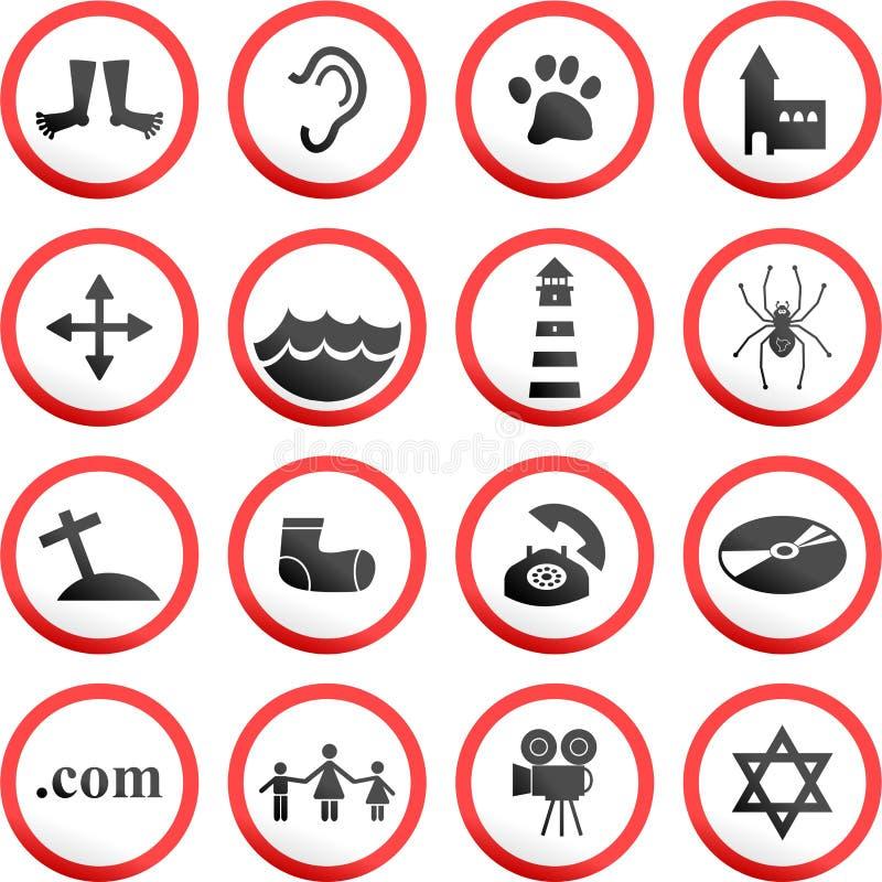 Signes de route ronds illustration libre de droits