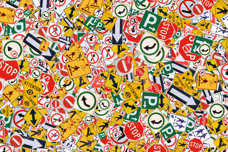 Signes de rue illustration libre de droits