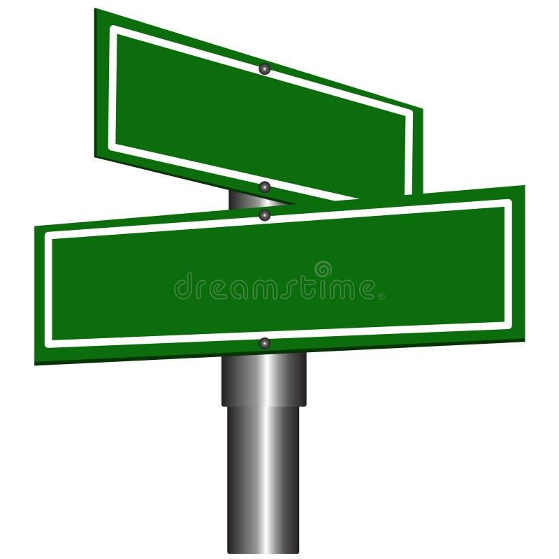 Signes de rue blanc illustration stock