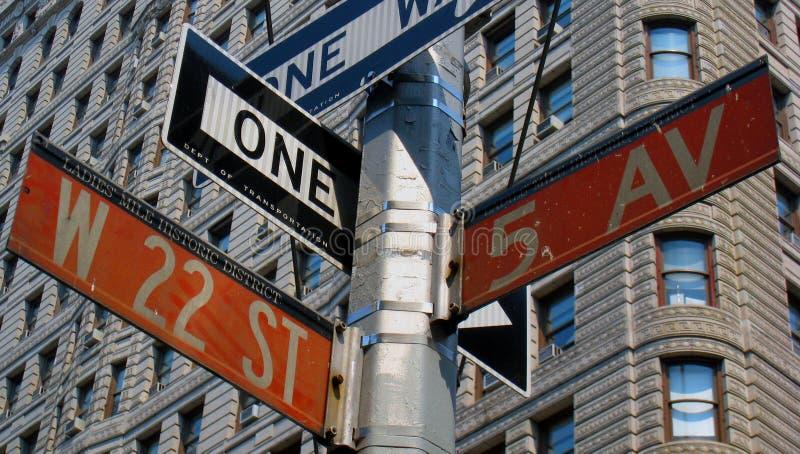 Signes de rue de Manhattan photos libres de droits