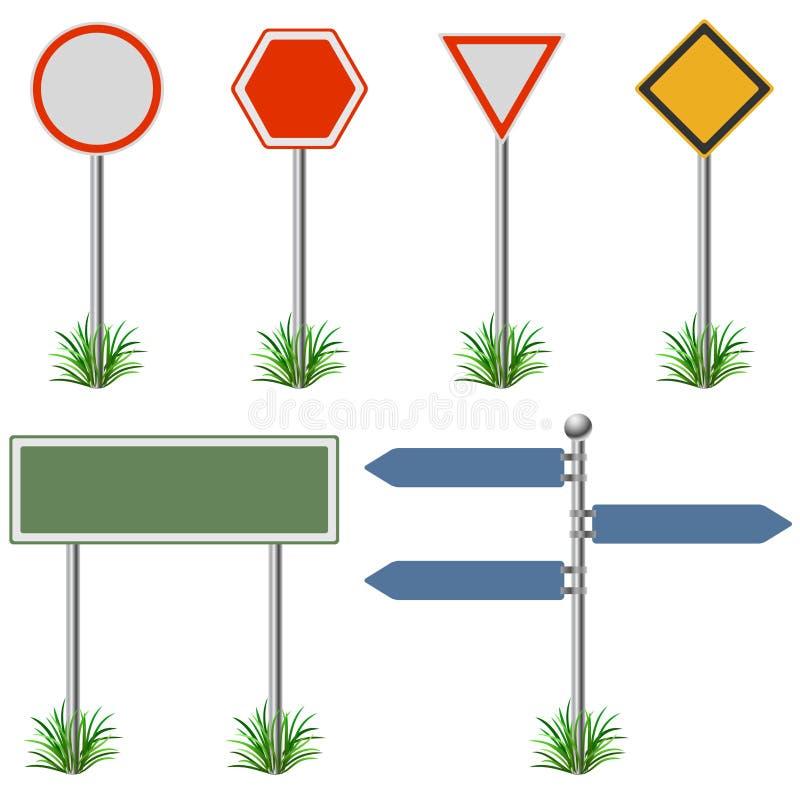 Signes de rue réglés illustration libre de droits