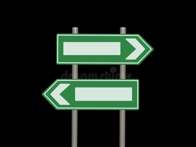 Signes de rue verts blanc illustration libre de droits