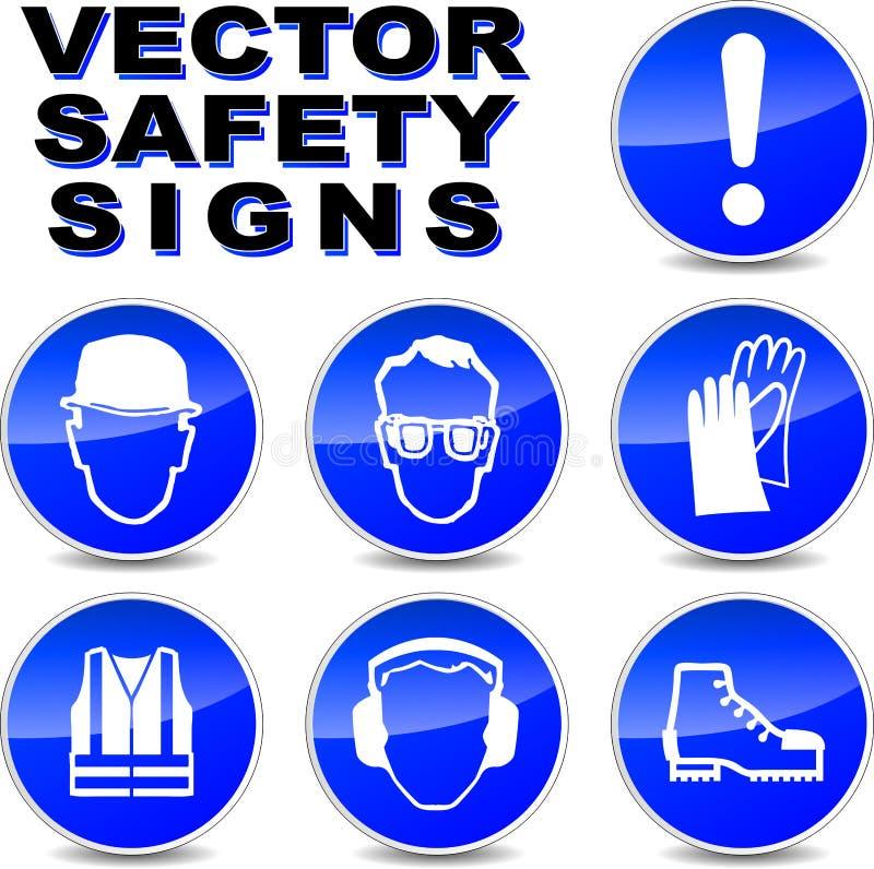 Signes de sécurité de vecteur illustration stock