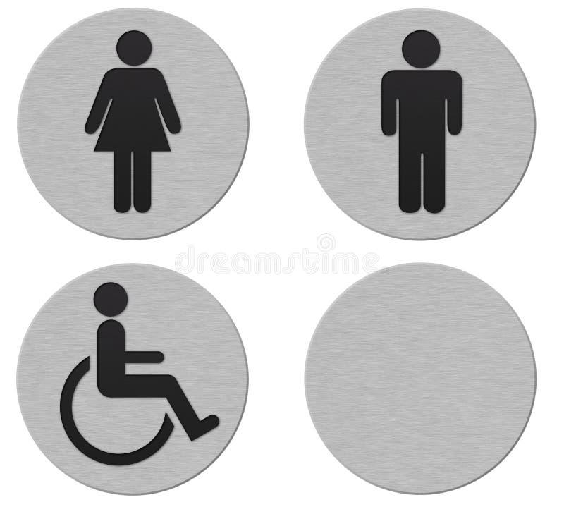 signes de salle de bains photographie stock libre de droits