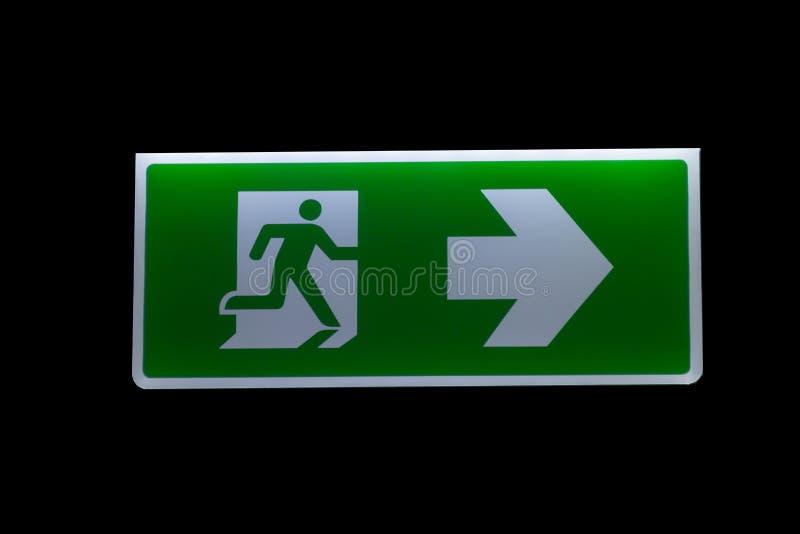 Signes de sortie de secours images libres de droits