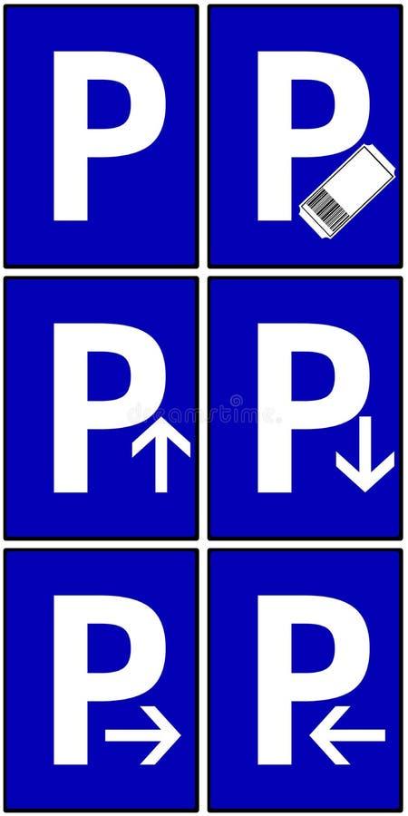 Signes de stationnement image libre de droits