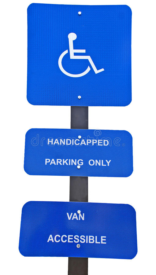 Signes de stationnement d'handicap photos libres de droits