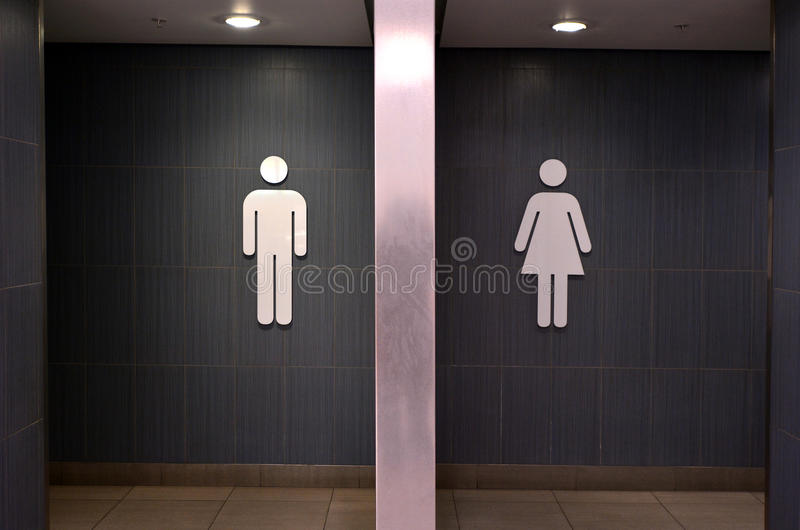 Signes de toilette photos libres de droits