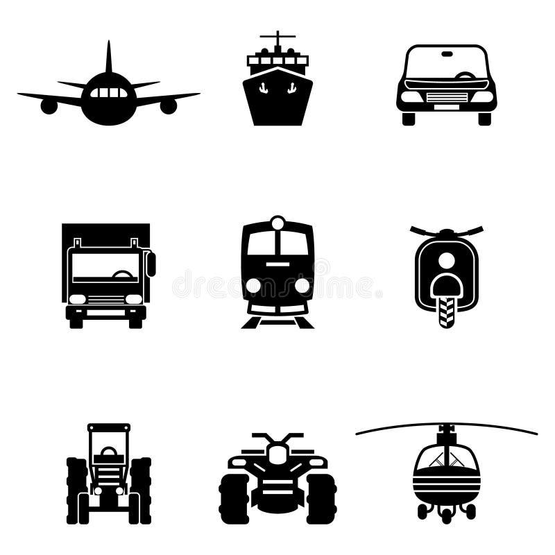 Signes de vecteur de transport de véhicule illustration libre de droits