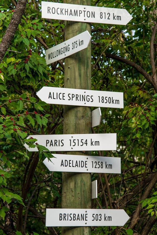 Signes de voyage de destination de flèche de vintage photographie stock