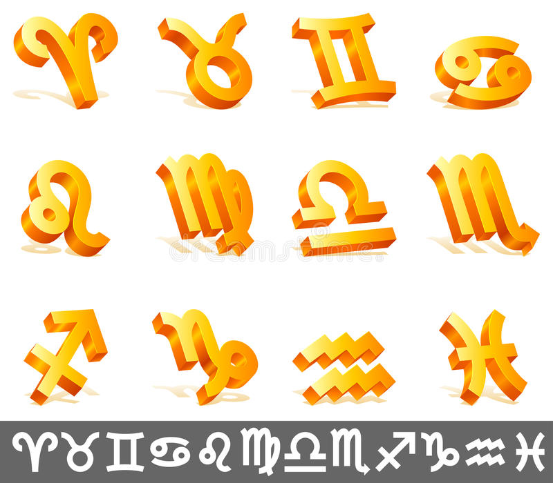 Signes de zodiaque. illustration stock