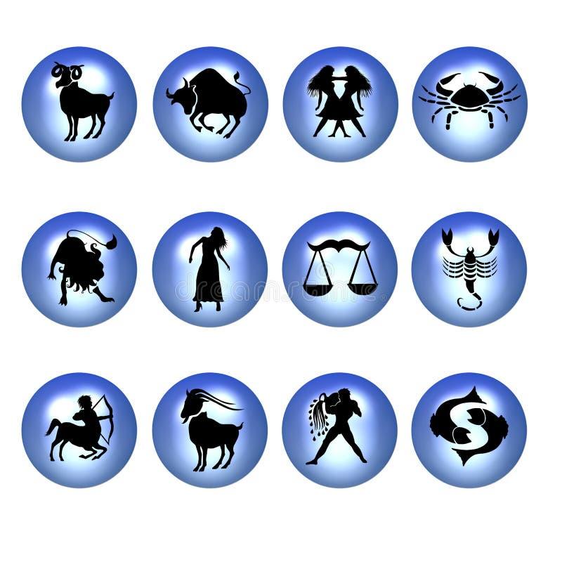 Signes de zodiaque illustration de vecteur