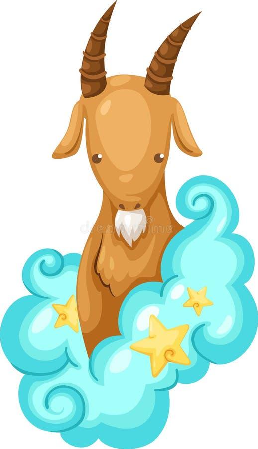 Signes de zodiaque - Capricorne illustration stock