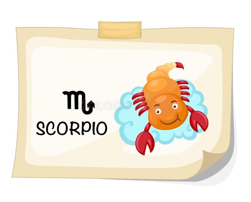 Signes de zodiaque - Scorpion illustration libre de droits