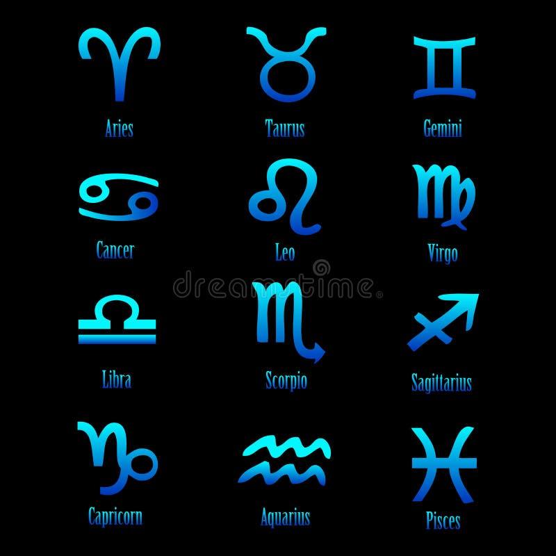 Signes de zodiaque - vecteur illustration stock