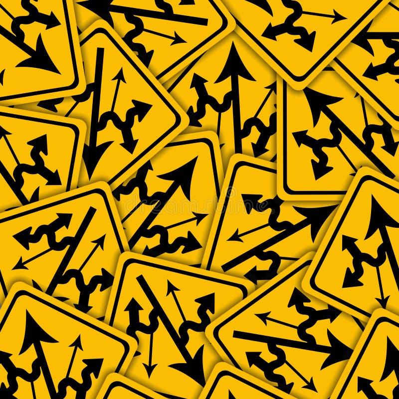 Signes embrouillants illustration stock