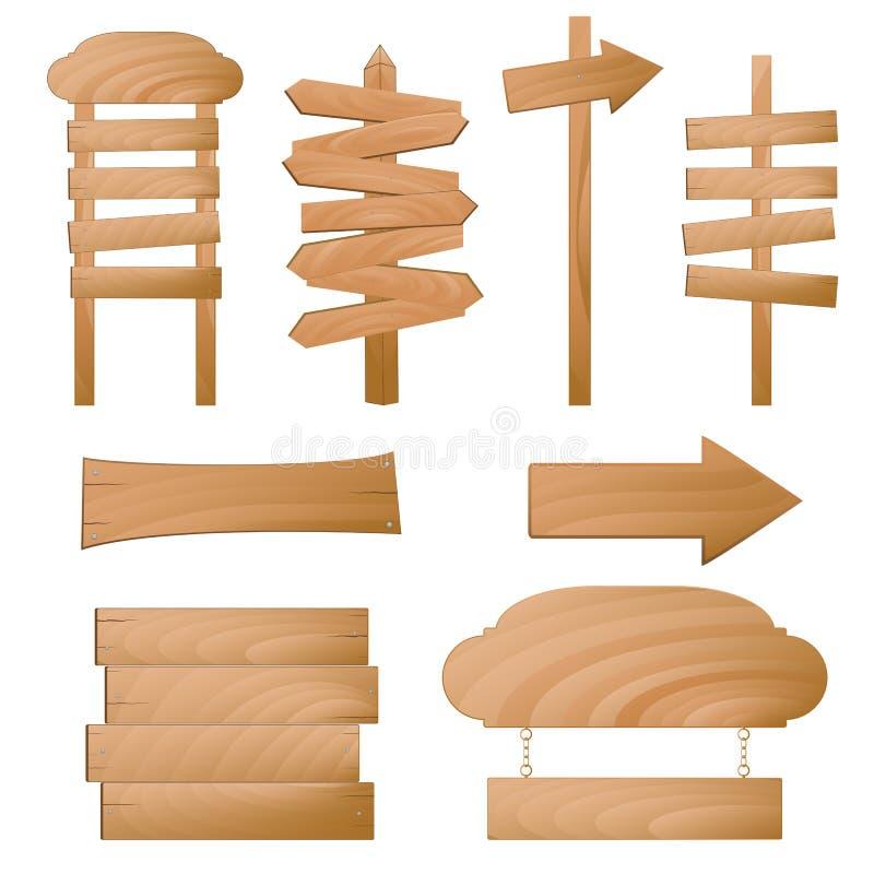 signes en bois de vecteur illustration libre de droits