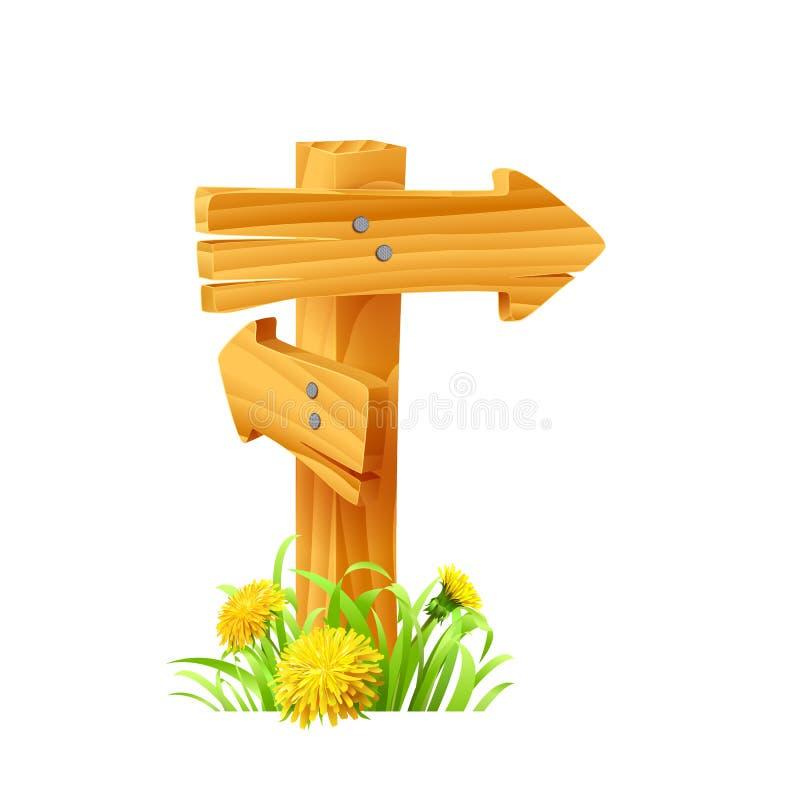 Signes en bois réglés photo stock