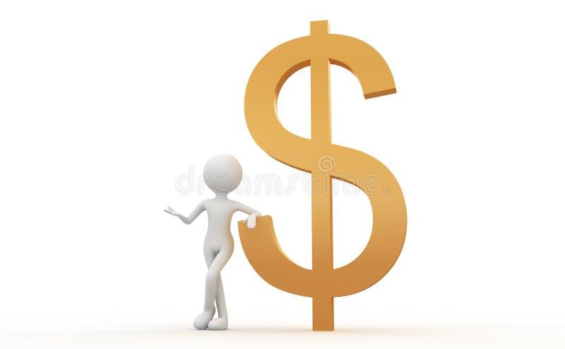 Signes et gens du dollar illustration de vecteur