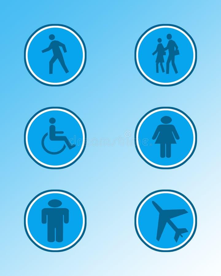 Signes et symboles 3 illustration stock