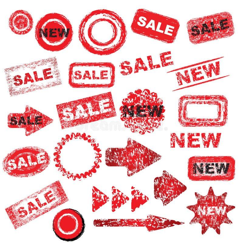 Signes grunges rouges illustration de vecteur