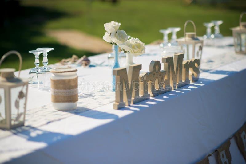 Signes mémorables pour un mariage inoubliable photos libres de droits