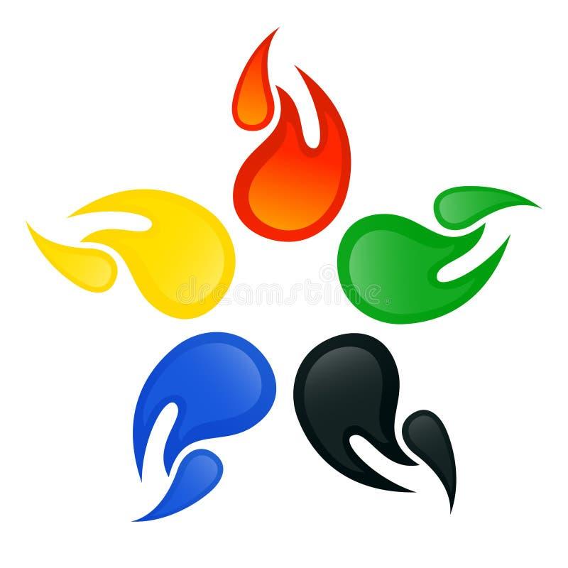 Signes olympiques illustration de vecteur