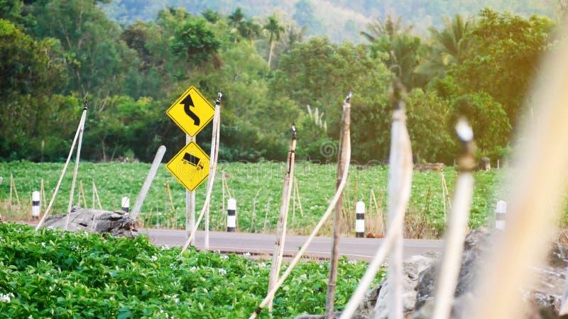 Signes pour des camions non permis photographie stock