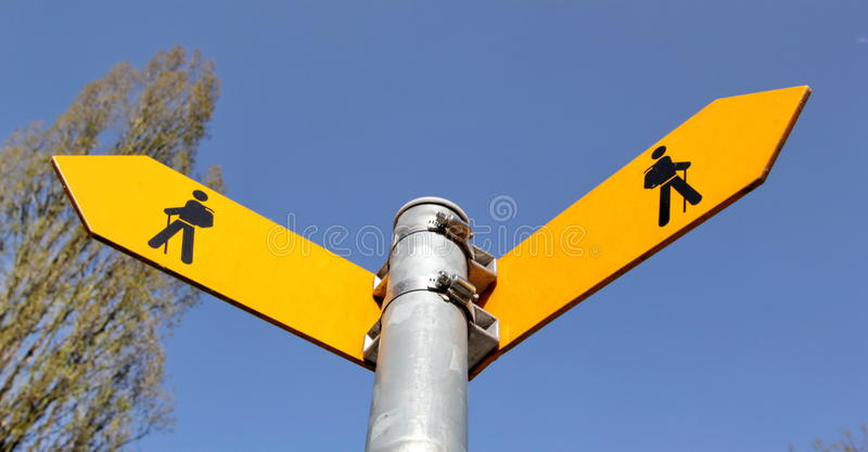 Signes pour des marcheurs photographie stock
