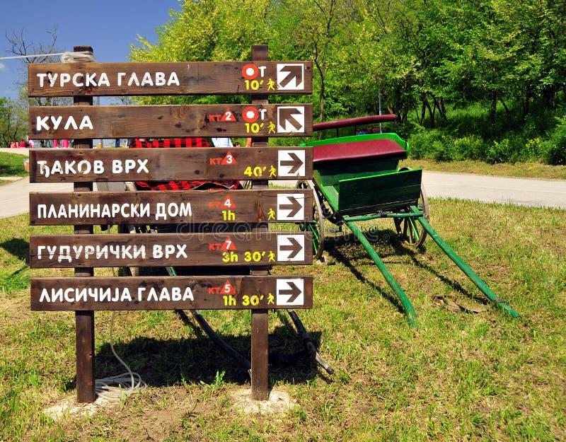 Signes touristiques photographie stock
