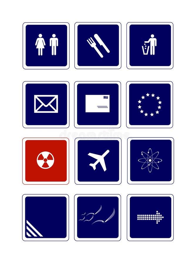 Signes utiles illustration stock