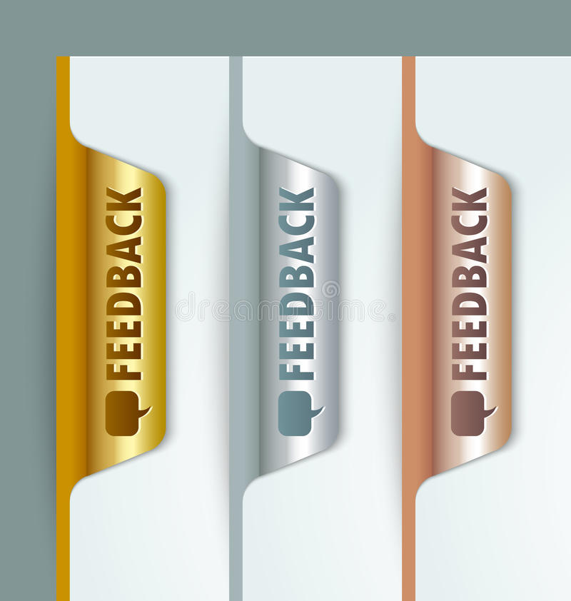 Signets de feedback illustration stock
