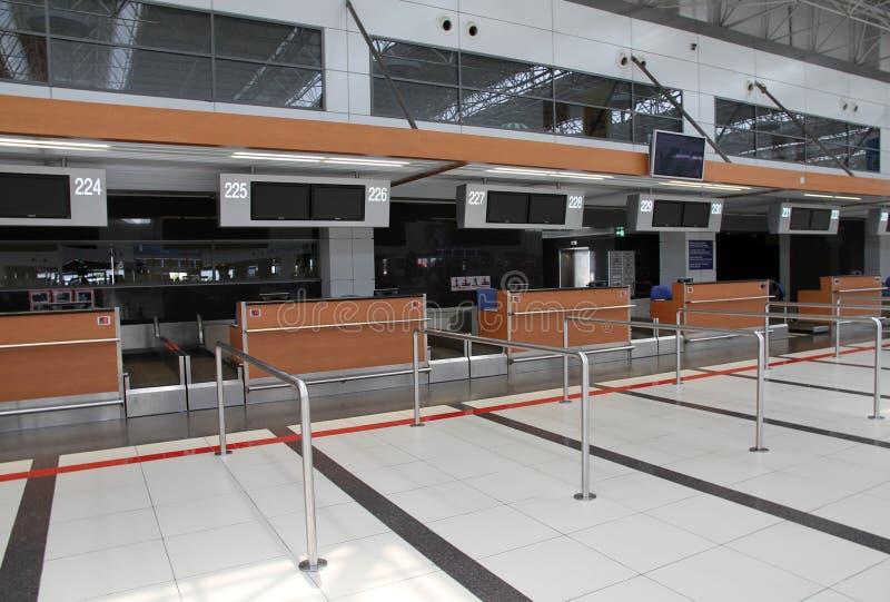 Signez Contre Dans L Aéroport Images libres de droits